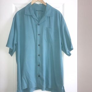 Tommy Bahama button down silk camp shirt